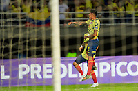 PEREIRA, COLOMBIA - JANUARY 18:  Colombia's Jorge Carrascal celebrates a goal  during their CONMEBOL Pre-Olympic soccer game  against Argentina at the Hernan Ramirez Villegas Stadium on January 18, 2020 in Pereira, Colombia. (Photo by Daniel Munoz/VIEW press/Getty Images)