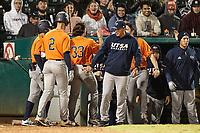 SAN ANTONIO, TX - FEBRUARY 22, 2020: The Notre Dame University Fighting Irish fall to the University of Texas at San Antonio Roadrunners 4-1 at Wolff Stadium (Photo by Jeff Huehn).