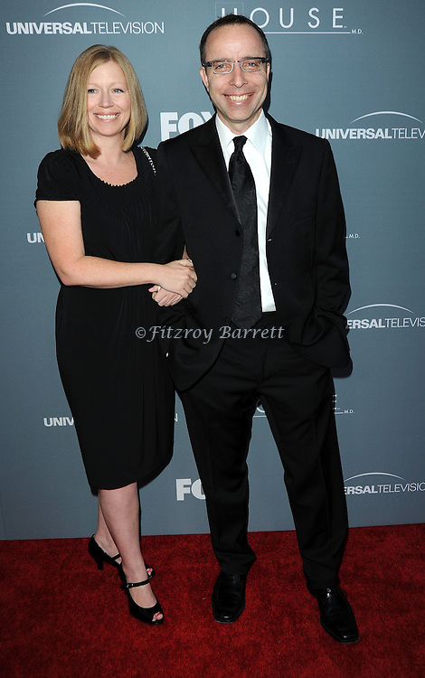 Garrett Lerner and date attending the House Series  Finale Wrap Party, held at Cicada's in Los Angeles, CA. April 20, 2012