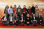 Alex de la Iglesia. Raphael, Mario Casas, Pepon Nieto, Blanca Suarez, Santiago Segura, Carlos Areces, Enrique Villen, Jaime Ordonez, Terele Pavez, Carolina Bang, Luis Callejo, Ana Polvorosa, Luis Fernandez, Antonio Velazquez, Carmen Ruiz, Marta Castellote, Eduardo Casanova, Daniel Guzman, Lucia de la Fuente, Carmen Machi y Hugo Silva poses during `Mi gran noche´ film presentation in Madrid, Spain. October 19, 2015. (ALTERPHOTOS/Victor Blanco)