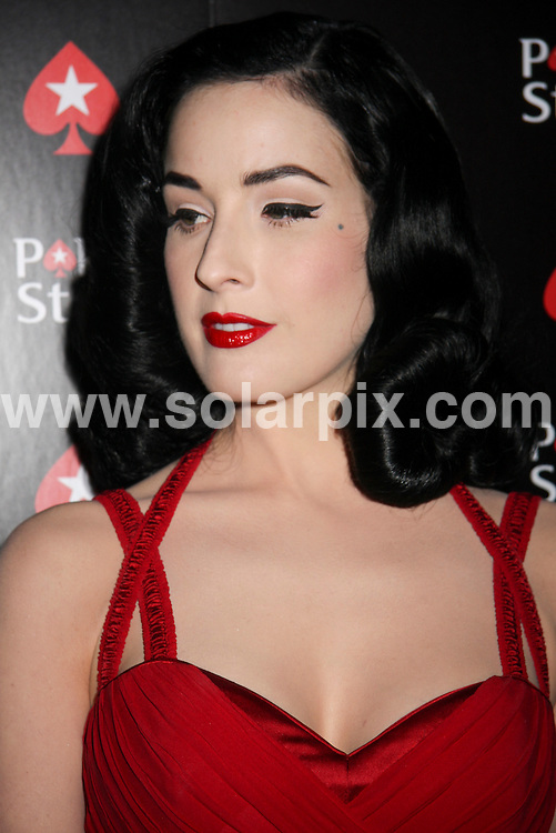 **ALL ROUND PICTURES FROM SOLARPIX.COM**.**SYNDICATION RIGHTS FOR UK, SPAIN, PORTUGAL, AUSTRALIA, S.AFRICA & DUBAI (U.A.E) ONLY**.Dita Von Teese arrives for the PokerStars.com Burlesque Party Celebration of the World Series of Poker, at the Rain Nightclub at the Palms Hotel and Casino, Las Vegas, NV, USA. 7th July 2008..JOB REF: 6799 PHZ/ PRN   DATE: 07_07_2008.**MUST CREDIT SOLARPIX.COM OR DOUBLE FEE WILL BE CHARGED* *UNDER NO CIRCUMSTANCES IS THIS IMAGE TO BE REPRODUCED FOR ANY ONLINE EDITION WITHOUT PRIOR PERMISSION*