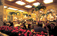 Atrium restaurant in the Plaza Hotel, New York City, USA