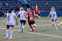 Rochester, NY - Saturday May 21, 2016: Sky Blue FC midfielder Nikki Stanton (7) and  Western New York Flash midfielder Meredith Speck (25). The Western New York Flash defeated Sky Blue FC 5-2 during a regular season National Women's Soccer League (NWSL) match at Sahlen's Stadium.