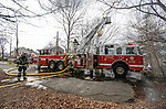 Manasquan Ladder 27-1-90 in operation at a structure fire on Pearce Avenue on Easter Sunday, April 1, 2018.