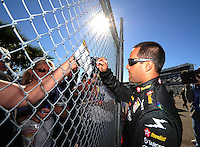 Feb 10, 2008; Daytona Beach, FL, USA; Nascar Sprint Cup Series driver Juan Pablo Montoya during qualifying for the Daytona 500 at Daytona International Speedway. Mandatory Credit: Mark J. Rebilas-US PRESSWIRE