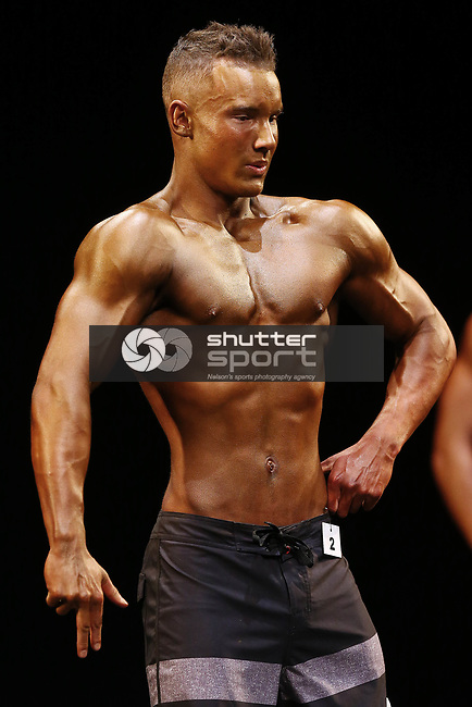 NELSON, NEW ZEALAND - AUGUST 12: GM Euro Top of The South Nelson Body Building Championship on August 12 2017 in Nelson, New Zealand. (Photo by: Evan Barnes Shuttersport Limited)