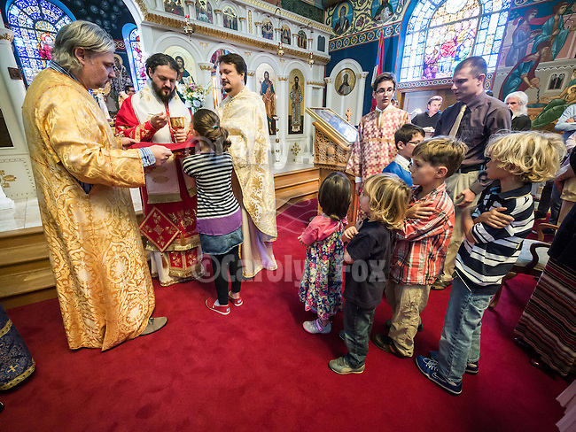 60th anniversary of the consecration of St. John the Baptist Serbian Orthodox Cathedral, San Francisco, Calif.<br /> <br /> Bishop Maxim serves sacrement