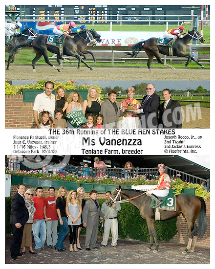 Ms Vanenzza winning The Blue Hen Stakes at Delaware Park on 10/3/09