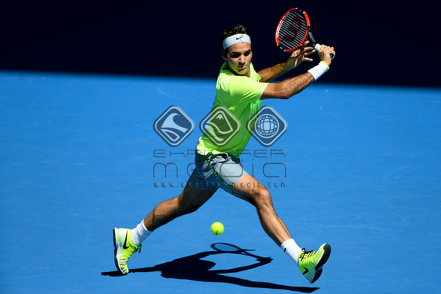 Roger Federer (SUI) goes out in the 3rd round to Andreas Seppi (ITA)  <br /> 2015 Australian Open Tennis / Day 5<br /> Grand Slam of Asia Pacific<br /> Melbourne Park, Vic Australia<br /> Friday 23 January 2015<br /> &copy; Sport the library / Jeff Crow