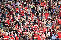 Portland, OR - Sunday, May 29, 2016: Portland Thorns FC fans. The Portland Thorns FC and the Seattle Reign FC played to a 0-0 tie during a regular season National Women's Soccer League (NWSL) match at Providence Park.