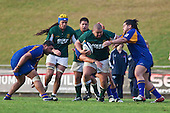James Ngatupuna fights his way forward during Oceania Cup & RWC Qualifier rugby game between the Cook Islands & Niue played at Growers Stadium, Pukekohe, on Saturday 27th June 2009. The Cook Islands won 29 - 7 after leading 9 - 7 at halftime.