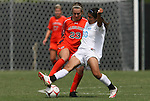 20 September 2009: North Carolina's Ranee Premji (CAN) (30) and Auburn's Katy Frierson (23). The University of North Carolina Tar Heels played the Auburn University Tigers to a 0-0 tie after overtime at Koskinen Stadium in Durham, North Carolina in an NCAA Division I Women's college soccer game.