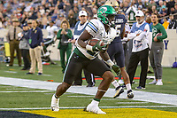 Annapolis, MD - October 26, 2019: Tulane Green Wave running back Ygenio Booker (27) scores a touchdown during the game between Tulane and Navy at  Navy-Marine Corps Memorial Stadium in Annapolis, MD.   (Photo by Elliott Brown/Media Images International)