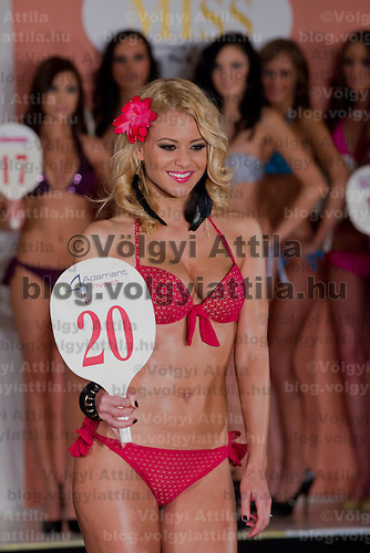 Marianna Bertok winner of the Miss Hungary beauty contest held in Budapest, Hungary on December 29, 2011. ATTILA VOLGYI