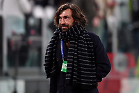 Andrea Pirlo is seen at the end of the Uefa Champions League 2018/2019 round of 16 second leg football match between Juventus and Atletico Madrid at Juventus stadium, Turin, March, 12, 2019 <br />  Foto Andrea Staccioli / Insidefoto