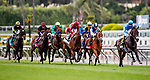 MAY 27: Bolo and Florent Geroux leads the field for the Shoemaker Mile at Santa Anita Park in Arcadia, California on May 27, 2019. Evers/Eclipse Sportswire/CSM