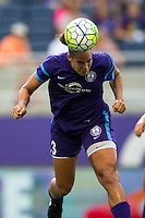Orlando, FL - Sunday July 10, 2016: Toni Pressley during a regular season National Women's Soccer League (NWSL) match between the Orlando Pride and the Boston Breakers at Camping World Stadium.