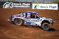 Apr 15, 2011; Surprise, AZ USA; LOORRS driver Travis Coyne (5) during round 3 and 4 at Speedworld Off Road Park. Mandatory Credit: Mark J. Rebilas-.