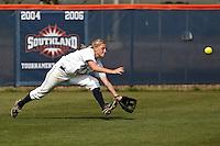 SAN ANTONIO, TX - APRIL 2, 2011: The University of Texas at Arlington Mavericks vs. the University of Texas at San Antonio Roadrunners Softball at Roadrunner Field. (Photo by Jeff Huehn)