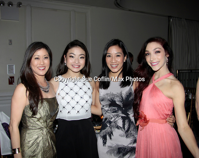 Kristi Yamaguchi- Maia Shibutani - Michelle Kwan - Meryl Davis - 10th Annual Gala celebrating Figure Skating in Harlem's 18th year of operations at The Stars 2015 Benefit Gala on April 13, 2015 in New York City, New York honoring Olympic Champion Evan Lysacek, Gloria Steinem and Nicole, Alana and Juliette Feld with Mary Wilson as Mistress of Ceremony. (Photos by Sue Coflin/Max Photos)