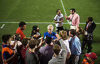 Tom Sermanni, media.  The USWNT defeated Brazil, 4-1, at an international friendly at the Florida Citrus Bowl in Orlando, FL.