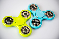 Green and Blue fidget spinners