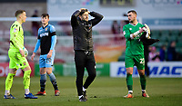 Lincoln City's assistant manager Nicky Cowley at the end of the game<br /> <br /> Photographer Chris Vaughan/CameraSport<br /> <br /> The EFL Sky Bet League Two - Lincoln City v Stevenage - Saturday 16th February 2019 - Sincil Bank - Lincoln<br /> <br /> World Copyright © 2019 CameraSport. All rights reserved. 43 Linden Ave. Countesthorpe. Leicester. England. LE8 5PG - Tel: +44 (0) 116 277 4147 - admin@camerasport.com - www.camerasport.com