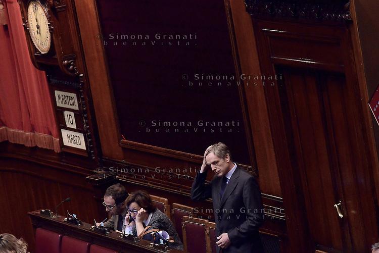 Roma, 10 Marzo 2015<br /> La Camera dei Deputati vota si alle Riforme della Costituzione.<br /> Gianni Cuperlo