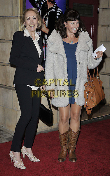 LONDON, ENGLAND - OCTOBER 23: Paula Wilcox &amp; guest attend the &quot;Memphis&quot; press night performance, Shaftesbury Theatre, Shaftesbury Avenue, on Thursday October 23, 2014 in London, England, UK. <br /> CAP/CAN<br /> &copy;Can Nguyen/Capital Pictures