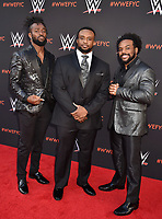 NORTH HOLLYWOOD, CA - JUNE 06: (L-R) Kofi Kingston, Big E and Xavier Woods of The New Day attend WWE's first-ever Emmy 'For Your Consideration' event at Saban Media Center on June 6, 2018 in North Hollywood, California.<br /> CAP/ROT/TM<br /> &copy;TM/ROT/Capital Pictures