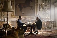 Darkest Hour (2017) <br /> Ben Mendelsohn &amp; Gary Oldman<br /> *Filmstill - Editorial Use Only*<br /> CAP/KFS<br /> Image supplied by Capital Pictures