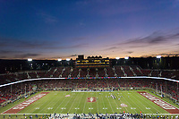 STANFORD, CA - November 18, 2017: Team at Stanford Stadium. The Stanford Cardinal defeated Cal 17-14 to win its eighth straight Big Game.