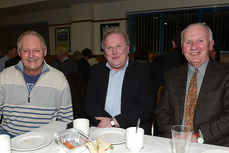 Angus Courtney, Pat Landy and Sean Walsh pictured at St mary's GFC Ardee awards night. Photo:Colin Bell/pressphotos.ie