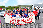 The boys from Coiste na nÓg An Ghealtacht at the La na gclub parade in Dingle on Sunday afternoon.