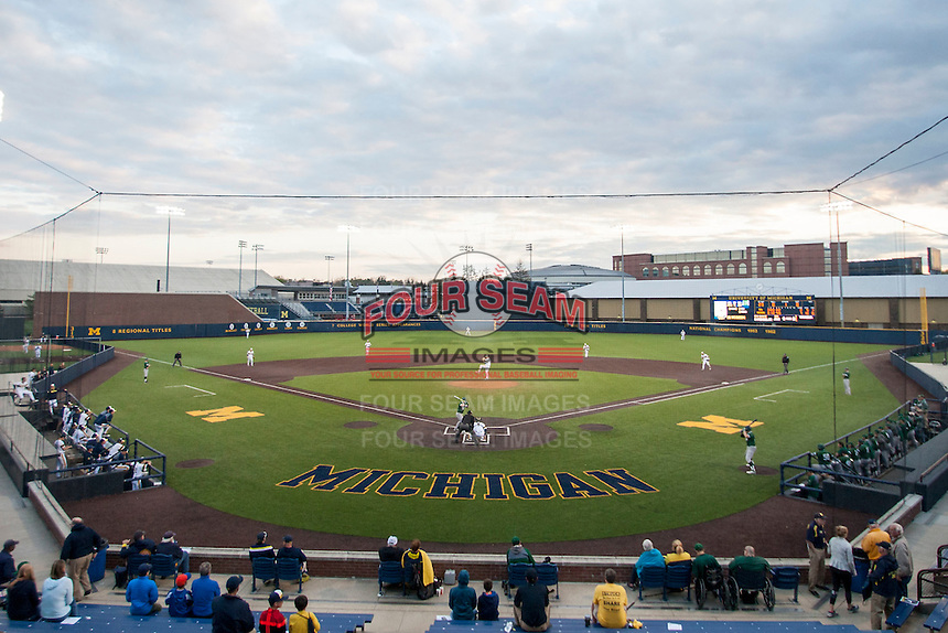 Ray Fisher Stadium in Ann Arbor, Michigan on May 3, 2016. Michigan defeated Eastern Michigan 12-4. (Andrew Woolley/Four Seam Images)