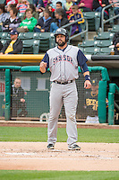 Nevin Ashley (31) of the Colorado Springs Sky Sox during the game against the Salt Lake Bees in Pacific Coast League action at Smith's Ballpark on May 22, 2015 in Salt Lake City, Utah.  (Stephen Smith/Four Seam Images)