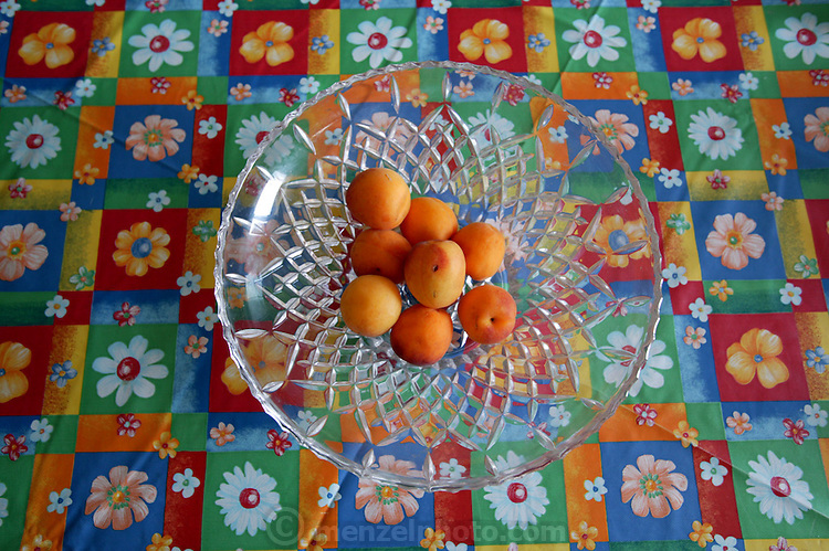 Bowl of fruit in a middle class family's kitchen, Rome, Italy. (Supporting image from the project Hungry Planet: What the World Eats)