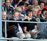 2-7-2017: Former Taoiseach Enda Kenny and his son Ferdia taking a few selfies at the Kerry V Cork Munster Football final in Killarney on Sunday.<br /> Photo: Don MacMonagle