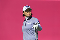 Amy Yang (KOR) tees off the 1st tee during Thursday's Round 1 of The Evian Championship 2018, held at the Evian Resort Golf Club, Evian-les-Bains, France. 13th September 2018.<br /> Picture: Eoin Clarke | Golffile<br /> <br /> <br /> All photos usage must carry mandatory copyright credit (© Golffile | Eoin Clarke)