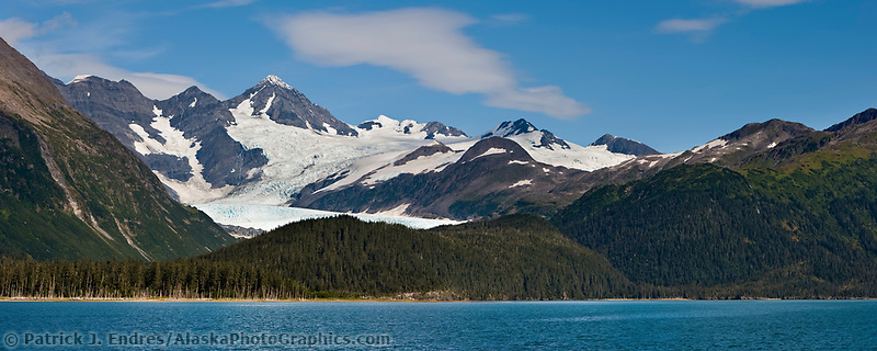 Billings glacier in western Prince William Sound, Chugach mountains, Chugach National Forest, Alaska.