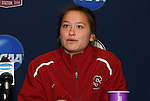 05 December 2009: Senior defender Ali Riley. The Stanford University Cardinal held a press conference at the Aggie Soccer Complex in College Station, Texas on the day before playing the University of North Carolina Tar Heels in the NCAA Division I Women's College Cup championship game.