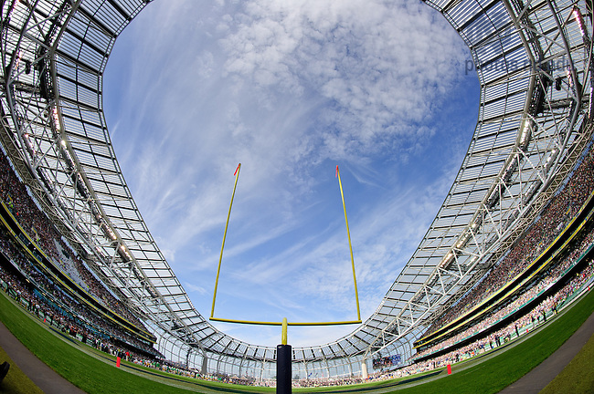 Sep. 1, 2012; 2012 Shamrock Classic at Aviva Stadium in Dublin, Ireland...Photo by Matt Cashore/University of Notre Dame