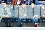14.04.2019, PreZero Dual Arena, Sinsheim, GER, 1. FBL, TSG 1899 Hoffenheim vs. Hertha BSC Berlin, <br /> <br /> DFL REGULATIONS PROHIBIT ANY USE OF PHOTOGRAPHS AS IMAGE SEQUENCES AND/OR QUASI-VIDEO.<br /> <br /> im Bild: Auf der Tribuene: Ex-VfB-Sportchef Michael Reschke (Mitte)<br /> <br /> Foto © nordphoto / Fabisch