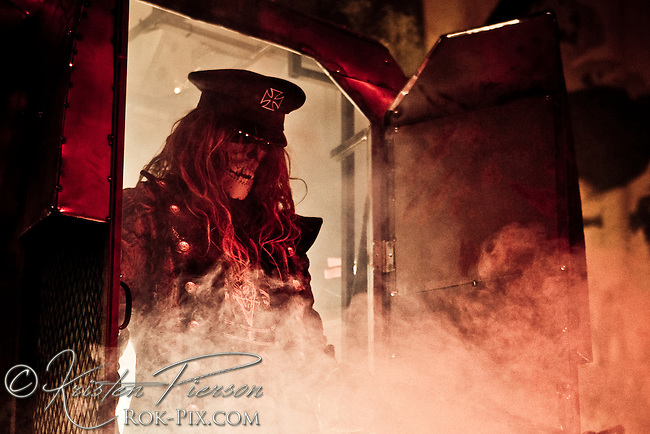 Rob Zombie performing at Mayhem in Mansfield, MA.