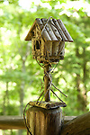 Camp Up-There, Elizabethtown, NY. Adirondack style birdhouse.