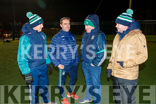 Kieran O'Shea, Donal Looney (Manager), Tim Lynch (Chairman) and Richie Barrett (Selector) working behind the scenes with Na Gaeil during their training session on Tuesday.