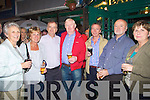 ALL THE BEST: Regulars of Garry's Baily's Corner who wished him well on his new aventure on Satuday night at his bar, l-r: Maudie Hoare, Cathy Carey, Gary O'Donnell, Tim Scannell, Paul Carey, Johnny O'Donnell and Anne Scannell..