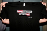 *** EXCLUSIVE COVERAGE ***<br />Carrie Fisher T-shirts for her final performance in WISHFUL DRINKING at Arena Stage<br />at the Lincoln  Theatre in Washington, D.C..<br />September 28, 2008