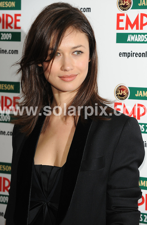 **ALL ROUND PICTURES FROM SOLARPIX.COM**.**WORLDWIDE SYNDICATION RIGHTS**.arrivals for The Empire Film Awards, Grosvenor House Hotel, London, UK. 29 March 2009..This pic: Olga Kurylenko..JOB REF: 8740 SSD     DATE: 29_03_2009.**MUST CREDIT SOLARPIX.COM OR DOUBLE FEE WILL BE CHARGED**.**ONLINE USAGE FEE GBP 50.00 PER PICTURE - NOTIFICATION OF USAGE TO PHOTO @ SOLARPIX.COM**.**CALL SOLARPIX : +34 952 811 768 or LOW RATE FROM UK 0844 617 7637**