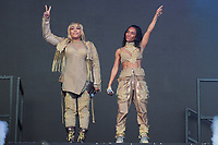 LONDON, ENGLAND - JUNE 3: Tionne Watkins and Rozonda Thomas of 'TLC' performing at Mighty Hoopla, Brockwell Park, Brixton on June 3, 2018 in London.<br /> CAP/MAR<br /> &copy;MAR/Capital Pictures